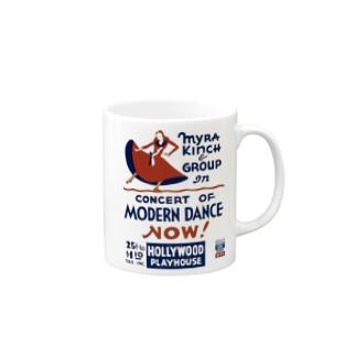 Vintage Dance Poster:ヴィンテージ・ダンスポスター マグカップ