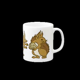 エゾリス|エサ取り合い マグカップ