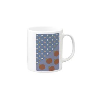 花の見る夢(青) Mugs