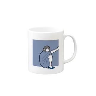 さんかくすわり Mugs