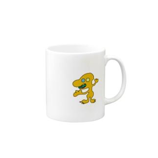 オレンジの宇宙人 ナンバー18 Mugs