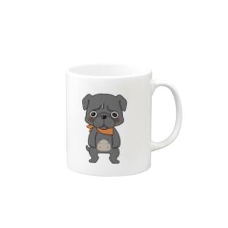 [黒パグ]しじゅじゅ Mugs