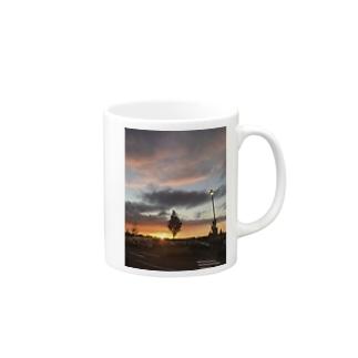スコットランドの夕日 Mugs