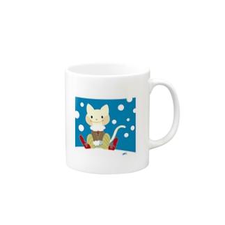 冬ねこ Mugs