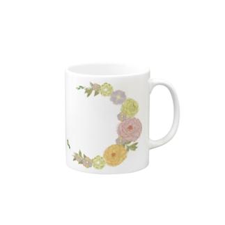 Crescent Bouquet Mugs
