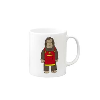 エプロンゴリラ Mug