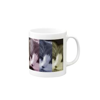 アートな長毛猫 Mugs