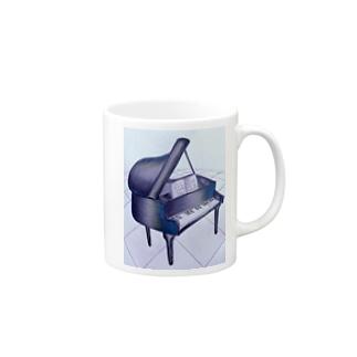 歪ピアノ サファイア Mugs