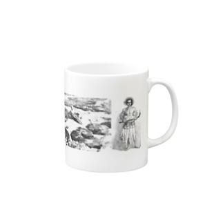 オーストラリアのサンゴ礁と女、と男 Mugs