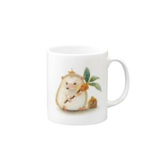 ハリネズミのむーくん金木犀 Mugs