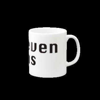 セブンシーズ Online StoreのSeven Seas モチーフロゴ(黒文字) Mugs