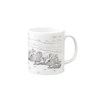 浜辺のうさぎたち Mugs