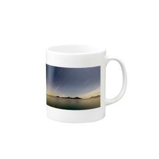 明るい夜空 Mugs