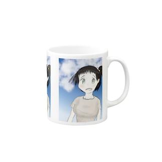 ファンタジー調で描いた村娘 Mugs