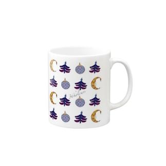 Christmas Ornaments (36kolours) ブルー Mugs