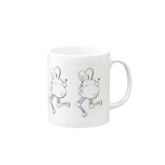 バイペダラビット Mugs