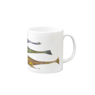 魚、細長い三匹 Mugs