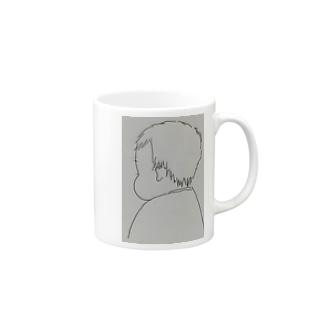 ○○○のホッペ Mugs