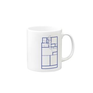 妄想用3DK間取り図。 Mugs