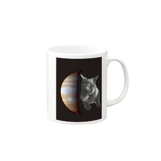 黒猫ジュピター Mug