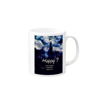 Happy? イラスト アート マグカップ