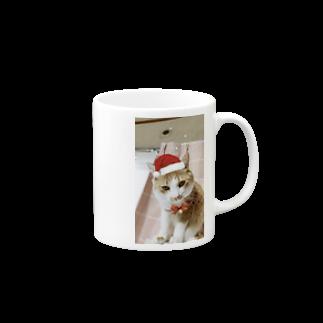 にこにこBLUEの猫 にこくん クリスマスバージョン Mugs