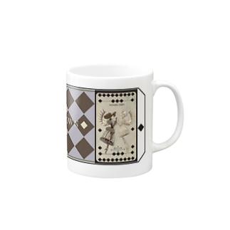 【シザーズクラウン】白黒鸚鵡貝羊たちの黙々(カード) マグカップ