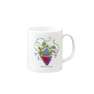 AkissのI ♡ Strawberry Mugs