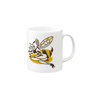 蜂ガール Mugs