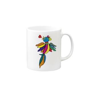 世界を跨ぐ鳥 Mugs