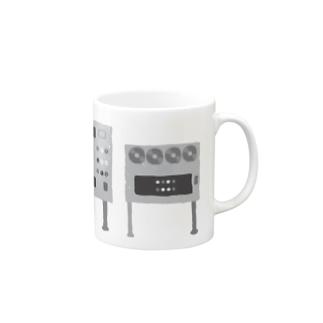 あやしげな白黒の機械 Mugs