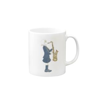 サックスと女の子 Mugs