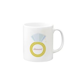 誕生石シリーズ(4月・ダイヤモンド) Mugs