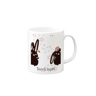 twins lapin Mugs