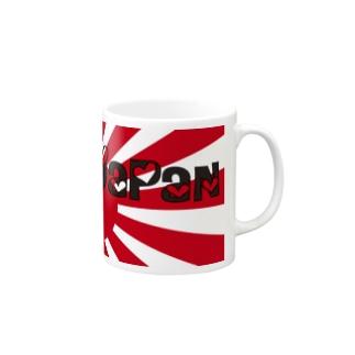 I♡ JAPAN (,,゚Д゚) ガンガレ!日本! トートバッグ Mugs