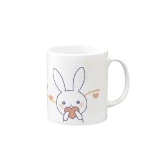 寂しがりうさぎ(ハート) Mugs