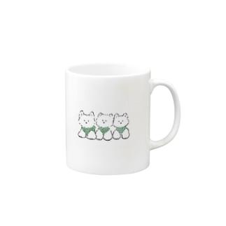 3ひきのテリア Mugs