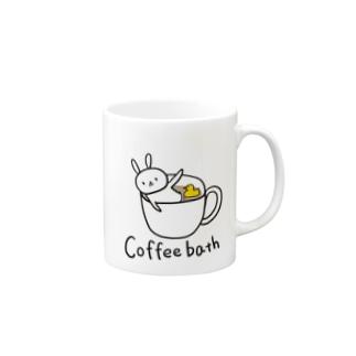 コーヒー風呂に入るウサギさん Mugs