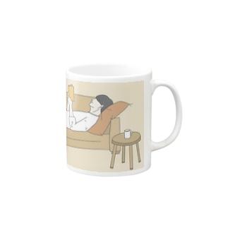 紅茶とあなたの匂いが好き(ベージュ) Mugs