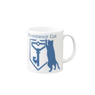 RESISTANCE CAT Mugs