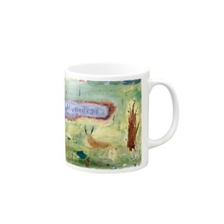 ムラナギ/夢の鹿、ハナロアの居る丘 マグカップ