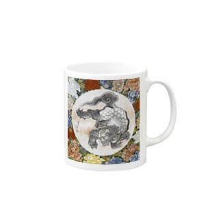葛飾北斎と葛飾応為の合作『 唐獅子図 』 Mugs