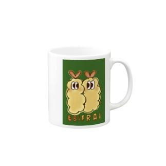 にじいろ☆うしゃぎのOSOZAI!!-オソーザイ!!- (エビフライ) Mugs