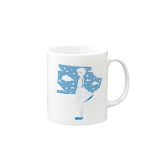 星の窓(ブルー) Mugs