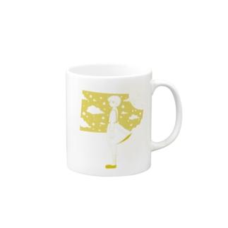星の窓(イエロー) Mugs
