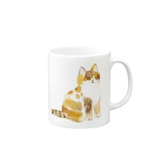 三毛ネコさん Mugs