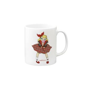 ロカビリーガールⅡ【red】 Mugs