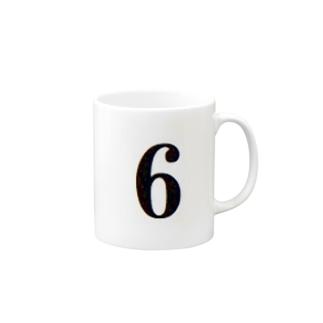背番号 6 Mugs