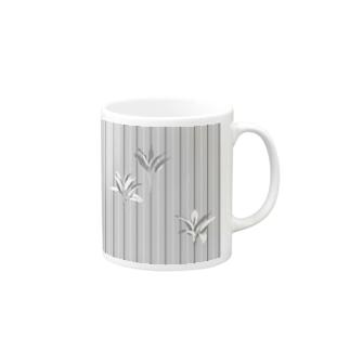 ドラセナの葉っぱ🌿ストライプ Mugs