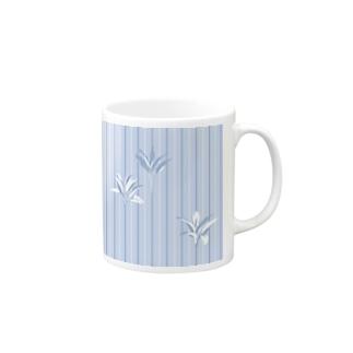 ドラセナの葉っぱ🌿ストライプ2 Mugs
